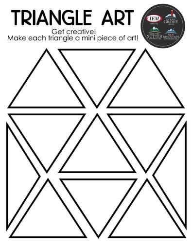 Triangle art