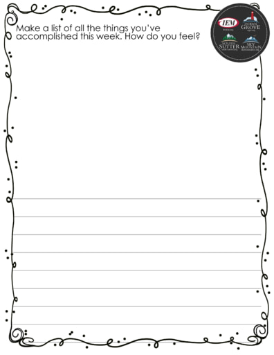 Accomplishment list draw and write
