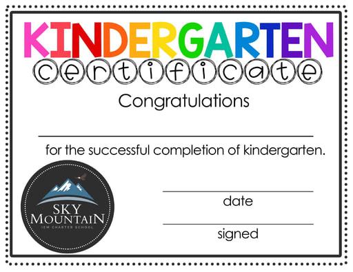 SMCS Kindergarten Completion Certificate