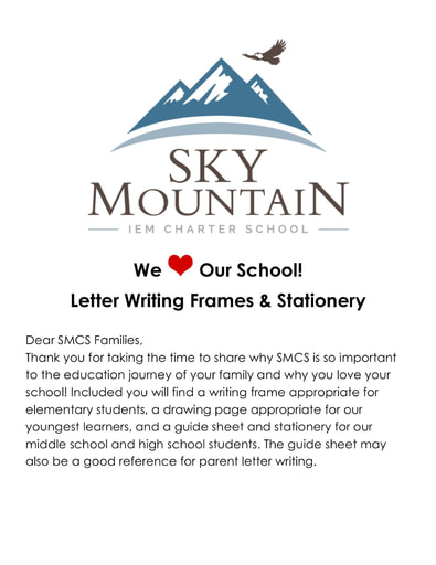 SMCS We Love Our School Letter Writing