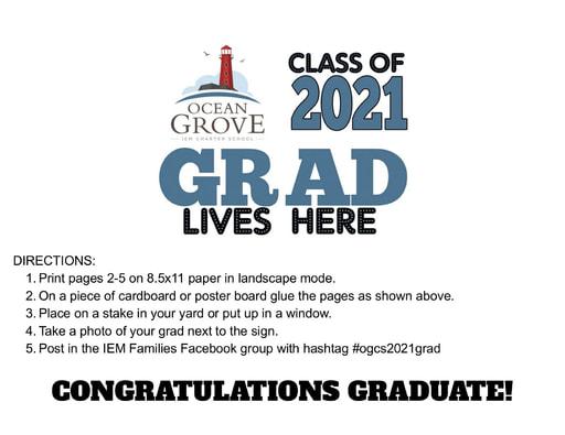 OGCS 2021 Graduate Sign