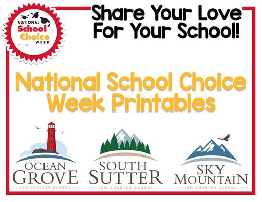 National School Choice Week Packet (1/24-1/30/21)