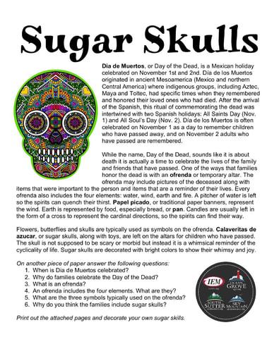 Sugar Skulls (11/1)